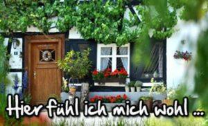Fachwerkhaus Haustüre und Fenster mit Fensterladen