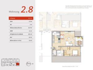 2. OG Wohnung 8 Grundriss Marienhof