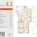 Grundriss von Wohnung 3.1 Marienhof
