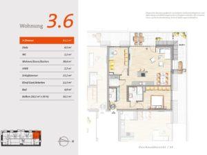 3. OG Wohnung 6 Grundriss
